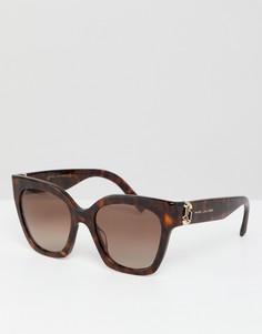 Солнцезащитные очки кошачий глаз в черепаховой оправе Marc Jacobs - Коричневый