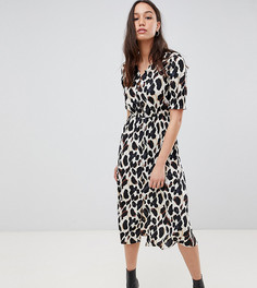 Платье миди с леопардовым принтом Influence Tall - Коричневый