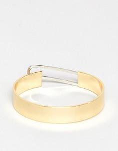 Позолоченный массивный браслет Fiorelli - Золотой