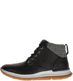 Кожаные черные ботинки на шнуровке Caterpillar