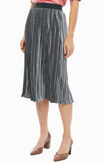 Серая бархатная юбка с плиссировкой Gerry Weber