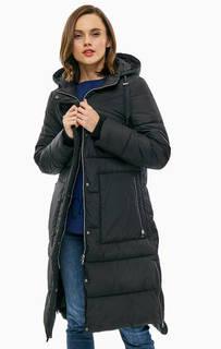 Удлиненная черная куртка с капюшоном Gerry Weber