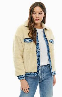 Шерстяная куртка с вставками из денима Pepe Jeans