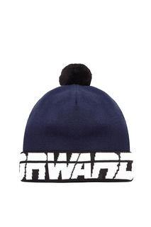 Сине-черная шапка с помпоном Fw Dlab