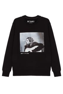 Черный свитшот с фотопринтом Trouper — Kurt Kobain