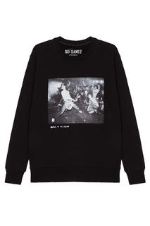 Черный свитшот с фотопринтом Hey Ho — Ramones KO Samui