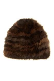 Округлая шапка из меха соболя Dreamfur