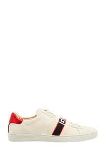 Кроссовки Ace с полосками и логотипом Gucci