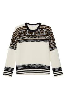 Шерстяной свитер с жаккардовым узором RED Valentino