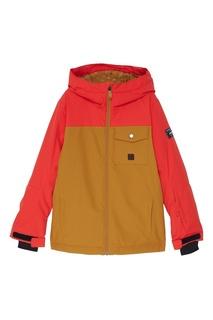 Красно-горчичная куртка для сноуборда Mission Quiksilver Kids