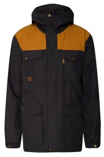 Горчично-черная куртка для сноуборда Raft Quiksilver