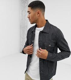 Черная джинсовая куртка в тонкую полоску Mauvais - Черный
