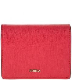 Красный кошелек из сафьяновой кожи Babylon Furla