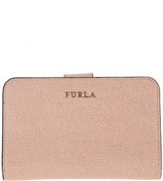 Кожаный кошелек с застежкой на кнопку Babylon Furla