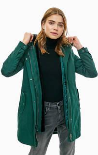 Зеленая куртка со съемной подкладкой Lacoste