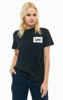 Хлопковая футболка оверсайз с логотипом бренда Lee
