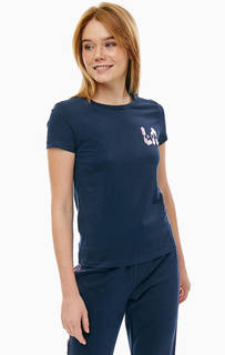 Футболка синего цвета с короткими рукавами Juicy by Juicy Couture