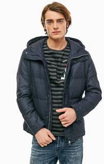 Синяя куртка с капюшоном Antony Morato