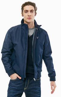 Синяя демисезонная куртка-бомбер Gant
