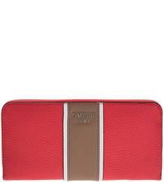 Красный кошелек со съемной петлей на запястье Guess