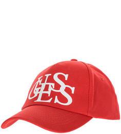Хлопковая бейсболка с логотипом бренда Guess