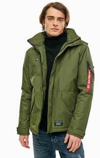 Куртка цвета хаки со скрытым капюшоном Alpha Industries