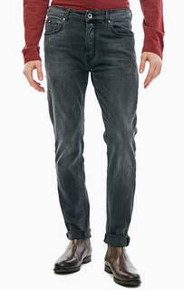 Зауженные серые джинсы с застежкой на болты Raul Gas