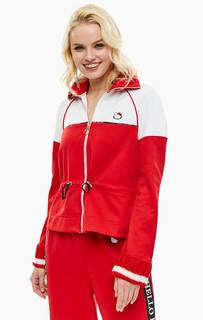 Красная куртка с шерстяными вставками Pinko