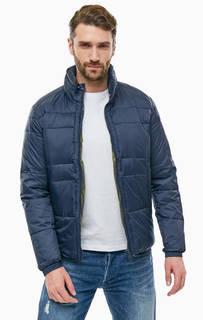 Синяя куртка со скрытым капюшоном Replay