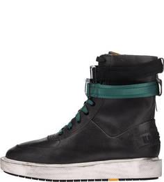 Высокие демисезонные ботинки из натуральной кожи Diesel