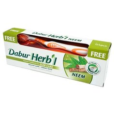 Зубная паста + щетка Dabur