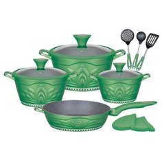 Набор посуды Winner Green