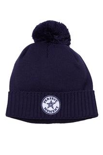 Синяя шапка с помпоном Perfect Moment