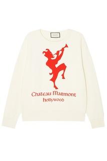 Свитшот с логотипом Chateau Marmont Gucci Man