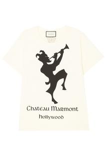 "Футболка с принтом ""Chateau Marmont"" Gucci"