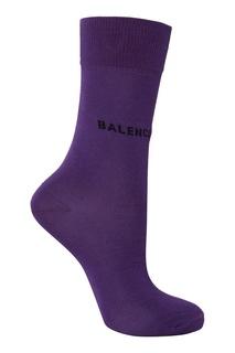 Фиолетовые носки с логотипом Balenciaga