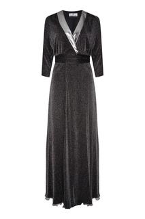 Платье макси из люрекса Laroom