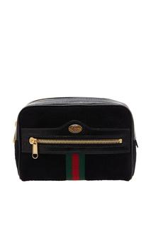Черная поясная сумка Ophidia Gucci