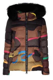 Комбинированная куртка с мехом Herno