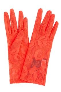 Красные кружевные перчатки Gucci
