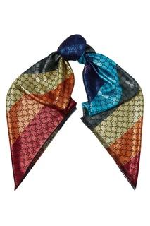 Платок с разноцветными монограммами GG Gucci