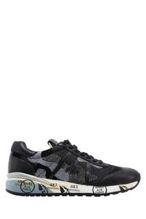 Черные кроссовки с отделкой Premiata