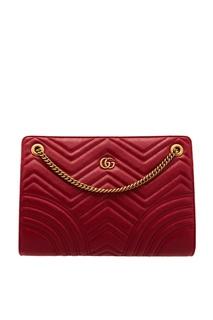 Красная стеганая сумка GG Marmont Gucci