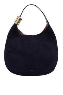 Темно-синяя сумка-мешок Stevie Jimmy Choo