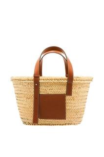 Плетеная сумка с кожаными ручками Basket Loewe