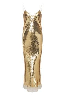 Золотое платье с пайетками Bernice Stella Mc Cartney