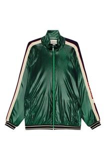 Зеленая олимпийка оверсайз Gucci Man