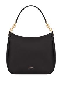 Черная сумка-хобо Cometa Furla