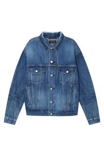 Джинсовая куртка с логотипом на спине Balenciaga