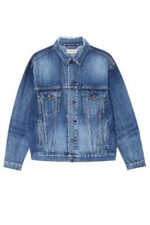 Синяя джинсовая куртка Logo Balenciaga